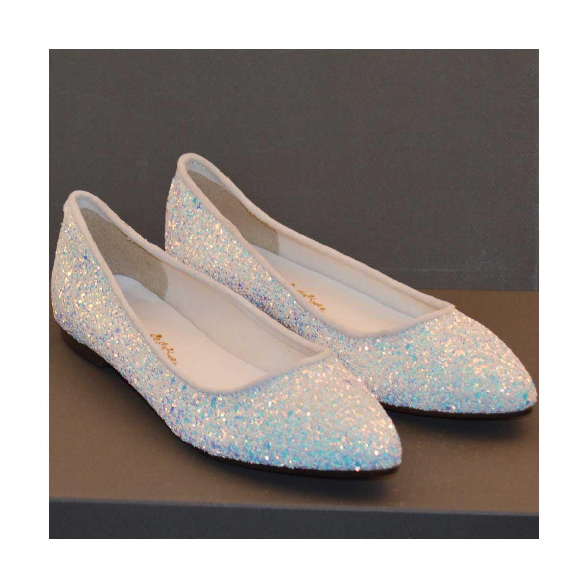 100% qualità super popolare autentico Penelope Ballerine Bianche con glitter