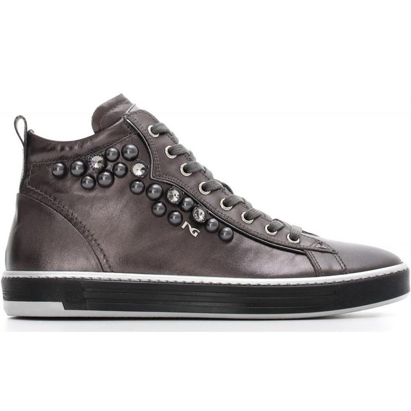 Giardini Scarpa Donna Sneaker Alta Nero wBAq100