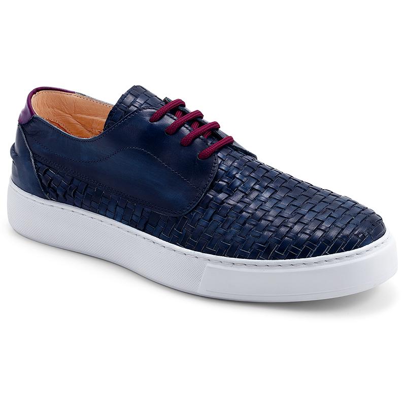 Exton Uomo Sneaker Intreciata Blu